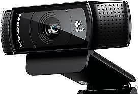 Logitech PRO WEBCAM full HD recording  and comes with a warranty.