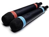 PS3 + PS4 Official Singstar Wireless Microphones - 2 Mics 1 Receiver