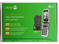 DORO 612 MOBILE PHONE, FLIP PHONE EASY TO USE, BRAND NEW BOXED.