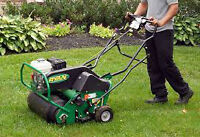 Lawn Aeration from $40 / De-thatching / Hydroseeding & more