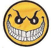 Smiley Aufnäher