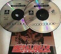 Metal Gear Solid platinum 2 disc Playstation 1 - No case. £10