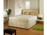 brand new unopened sealed 4ft6 alba double divan bed + or tho matress