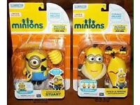 Minion Pose-able Figures, 15 Each In Stores
