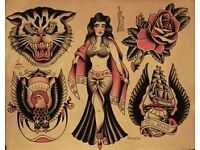 £20 p hour sailor jerry /old school tattoos