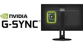 "Nvidia G-SYNC 144HZ GAMING MONITOR 27"" 1920X1080 TN Philips 272G5DYEB 1 year used"