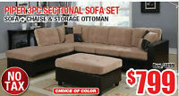 BRAND NEW 3PC FABRIC SECTIONAL SOFA SET FOR SALE