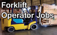 Forklift Operator - Counter Balance - S/R - $14.56/hour