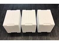 NEW with Box - Three Polystyrene insulated storage box - good quality, storage, transport, cool box
