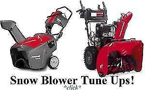 Snowblower tune ups-repairs (Pickup-delivery available)