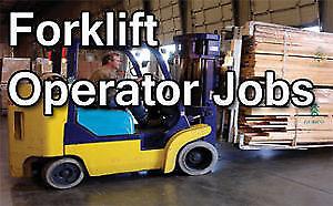 FORKLIFT OPERATORS NEEDED IMMEDIATELY!!!