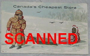 RARE AFRICAN CANADIAN OTTAWA CLOTHING STORE AD CARD, 1895