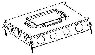 Wiremold Steel Recessed Og Floor Box 6-gang Epoxy Painted Steel Rfb6-og