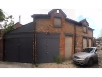 Workshop/storage/garaging available to rent in central Chorlton location M21 8BN