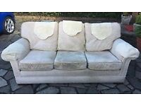 DFS Three seat sofa with reversible cushions