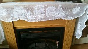New in Packages,  White Christmas Scene Mantel Lace St. John's Newfoundland image 1