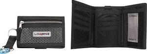 Gents Boys Blk Tri Fold Velcro Lorenz Sports Wallet, Security Belt Clip & Zip