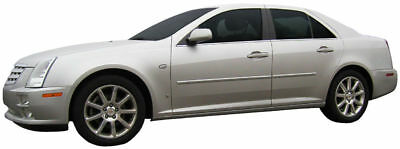 BODY SIDE Moldings PAINTED With Chrome Insert For: CADILLAC STS 2005-2011