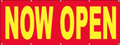 Now Open Banner Sign Vinyl Alternative Store Grand Opening