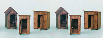 BANTA 6021 O 6 IN 1 OUTHOUSE COLLECTION Model Railroad Building Kit FREE SHIP