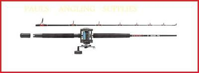 Abu Garcia Muscle Tip  Boat Fishing Rod & Abu Multiplier Reel with Line