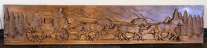 Stagecoach Custom Carved in Wood 48""