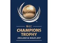 "4 X GOLD ""SKYLINE TERRACE"" SEMI FINAL Edgbaston Cricket Tickets ICC Champions Trophy"