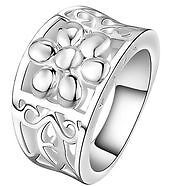 New- Sterling Silver Flower Shaped Ring. Size 7.5 Sarnia Sarnia Area image 1