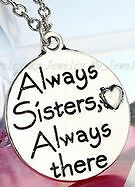 Brand New- Always Sisters, Always There Pendant Necklace