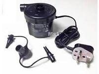 Mains Airbed Pump 3 Valve Adaptors