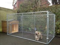 8x4 galvanised dog run / dog pen. 4ft high.