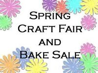 Spring craft & bake sale