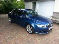 Audi A4 2.0 TDI S Line 170bhp Model Mauritius Blue