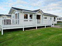 Caravan for hire. Craig Tara, Ayrshire SCOTLAND. Stunning Platinum Monaco Due Lodge (16ft wide)