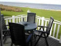 *Beautiful Sea Views* 14ft WIDE Caravan for hire Craig Tara Ayr. Veranda. Bath.