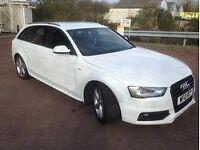 2012 Audi A4 Avant 2.0 TDI 177 S Line Manual full service history 56,000 miles half leather white