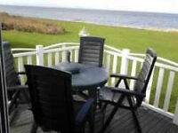 *BEACHFRONT* CARAVAN/LODGE TO HIRE (14ft wide) CRAIG TARA AYR. FANTASTIC SEA VIEWS