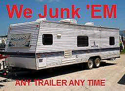 WE WANT YOUR USED UNWANTED TRAILERS CAMPERS & PARK MODELS