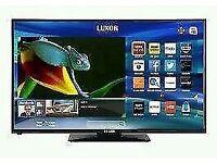 "LUXOR 40"" LED smart Wi-Fi tv built DVD COMBI USB MEDIA PLAYER HD FREEVIEW full hd 1080p."