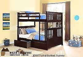 Full/Full Bunkbed with storage espresso finish (MA420)