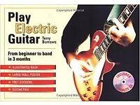 Play Electric Guitar Book - Beginner to band in 3 months inc CD - Brand New