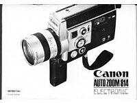 Super 8 Camera and cartridges