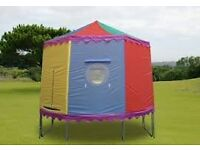 10 Ft Tent with 6 Poles - Circular Circus Style & Fits Over Existing Trampoline Enclosure