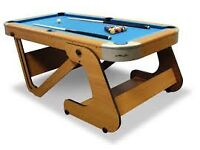 RILEY FOLDING 6ft 6 INCH FOLDING POOL TABLE