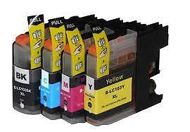 Brother LC103 New Compatible Ink Cartridges B/C/M/Y Full Set