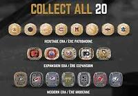 Wanted: Molson NHL Stanley Cup Replica Hockey Rings