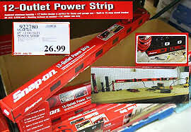 wanted snap-on red 12 outlet power bar strip