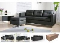 BRAND NEW OSAKA FAUX LEATHER CORNER CHAISE SOFA!!!!!!
