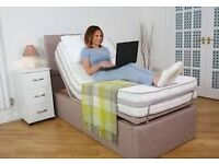 4 foot electrically adjustable therapy bed - champagne colour, great condition