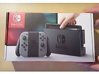 SOLD Nintendo Switch with case/screen protector and Rubber Grips as new condition with original box